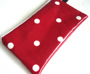 Red Dotty oilcloth purse