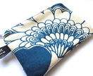 japanese floral coin purse - florence broadhurst - blue