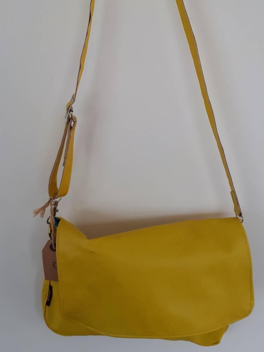 Little Miss Sunshine Yellow Leather Shoulder Bag/Satchel