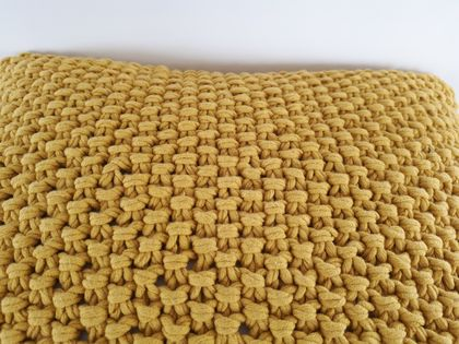 Mrs Mustard Knit Cushion Cover