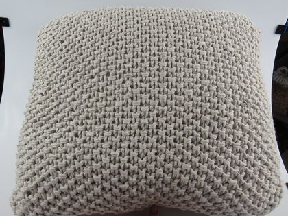 Master Beige Hand Knitted Squishy Oversized Cushion