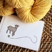 Goat with Yarn Card