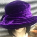 Purple Silk Velvet Adjustable Hat