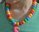 Funky rainbow beaded necklace