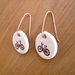 'Bicycle' Ceramic Earrings
