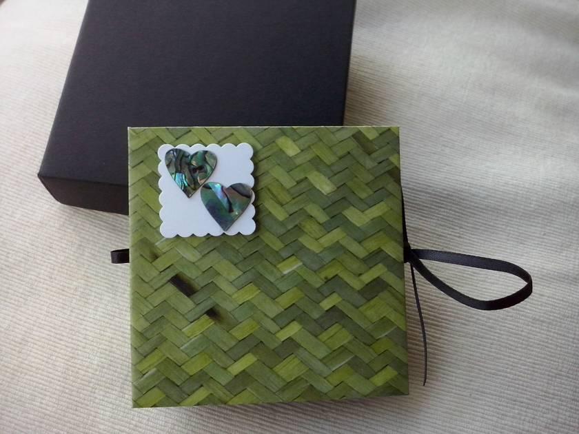 2 Beautiful Paua Shell Hearts Album