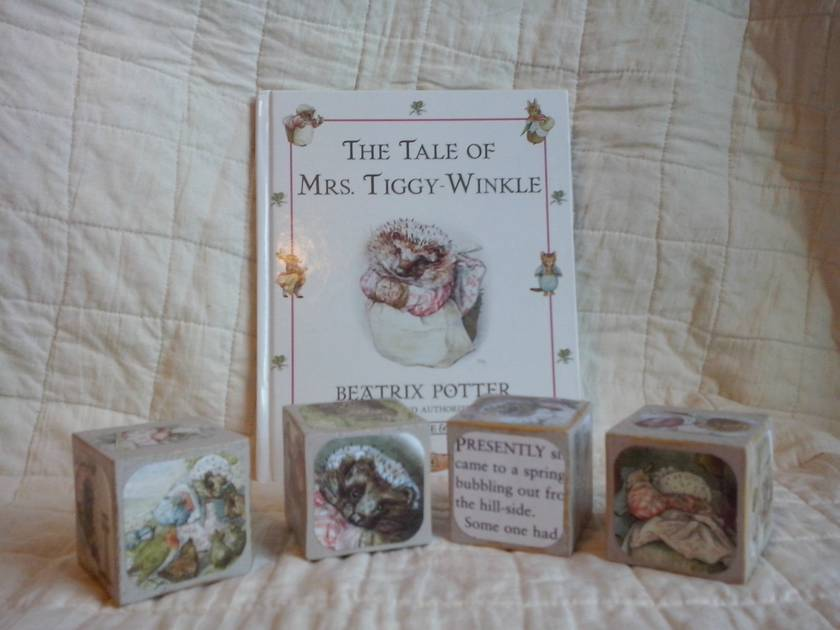 Wooden Storybook Blocks - The Tale of Mrs Tiggy Winkle