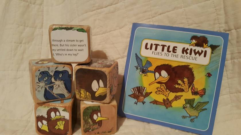 Story Block Set - Little Kiwi Flies to the Rescue
