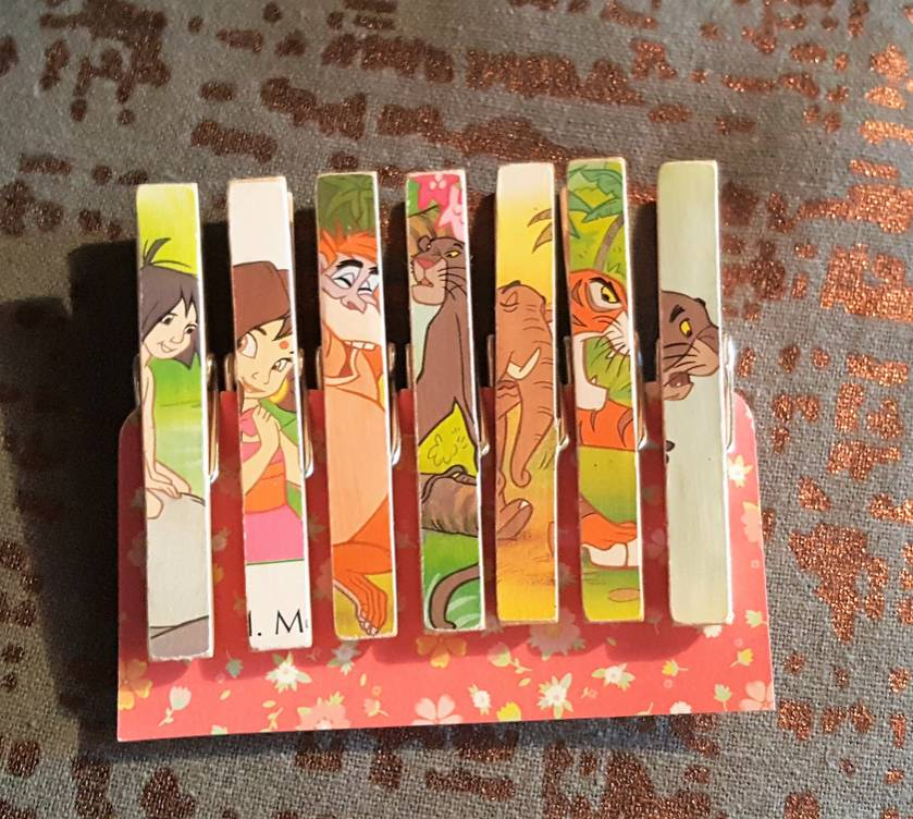 The Jungle Book Wooden Peg Magnets - Birthday - Wedding - Baby Shower - Placecard Holders - Favours - Notes - Memos