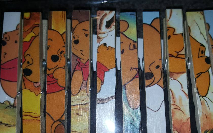 Winnie The Pooh Wooden Peg Magnets - Birthday - Wedding - Baby Shower - Placecard Holders - Favours - Notes - Memos
