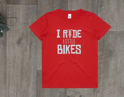 I Ride Little Bikes Red