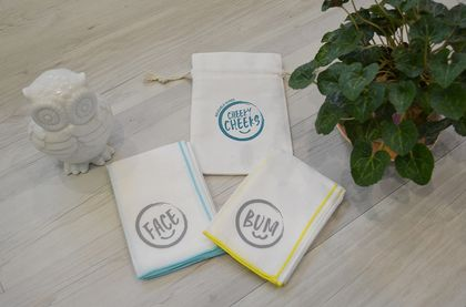Cheeky Cheeks Reusable Wipes Teal Yellow