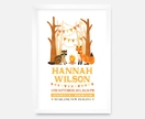 Personalised Baby Birth Announcement Print - Woodland Party