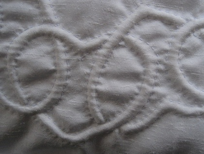 silk quilted cushion