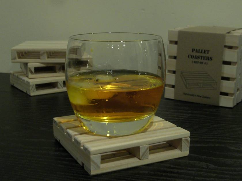 Wooden Pallet Coasters (set of 4)