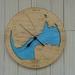 Wooden Tide Clock - Manukau Harbour detail