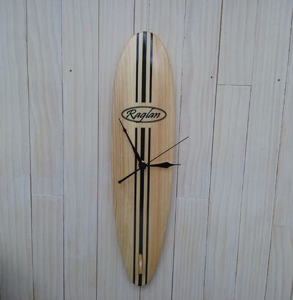Customised Surfboard clock - Longboard with your choice of text