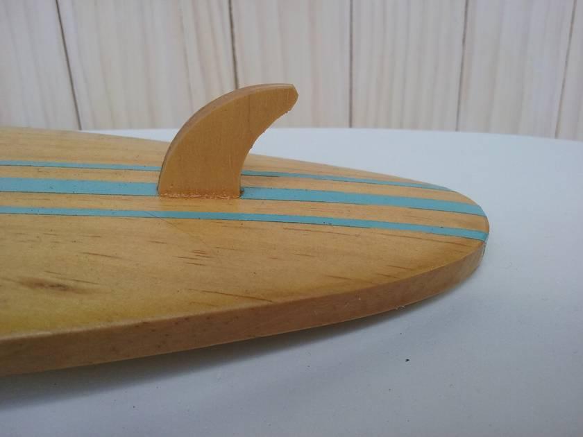 Surfboard clock - Shortboard blue stripes