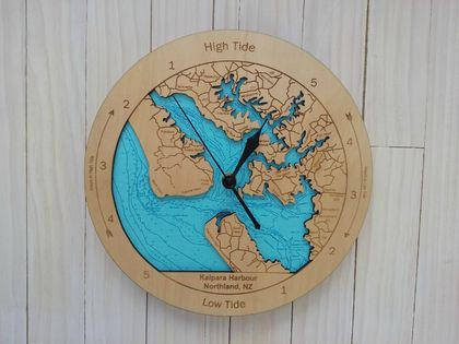 Kaipara Harbour Design Tide Clock