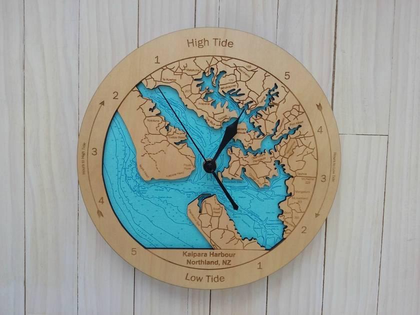 Kaipara Harbour Design Tide Clock