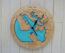 Wooden Tide Clock - Kaipara Harbour detail