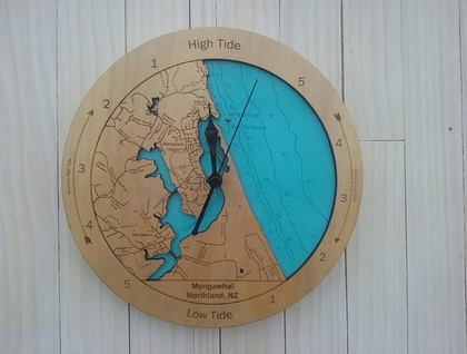 Mangawhai Harbour design Tide Clock