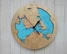 Wooden Tide Clock - Waitemata Harbour detail (made to order)