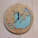 Wooden Tide Clock - Bay of Many Coves, Queen Charlotte Sound