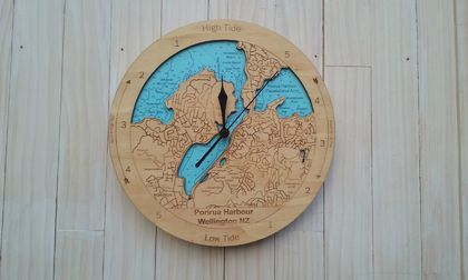 Porirua Harbour design Tide Clock