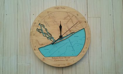 Rakaia River Mouth design Tide Clock