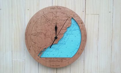 Wooden Tide Clock - Pourere to Porangahau