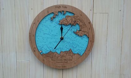Wooden Tide Clock - Beachlands / Maraetai to Waiheke