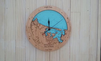 Wooden Tide Clock - Ohiwa Harbour / Ohope Beach