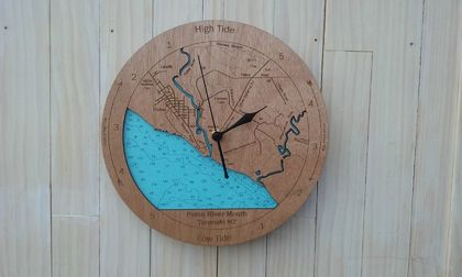 Wooden Tide Clock - Patea River Mouth