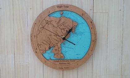Wooden Tide Clock - Leigh & Omaha Cove