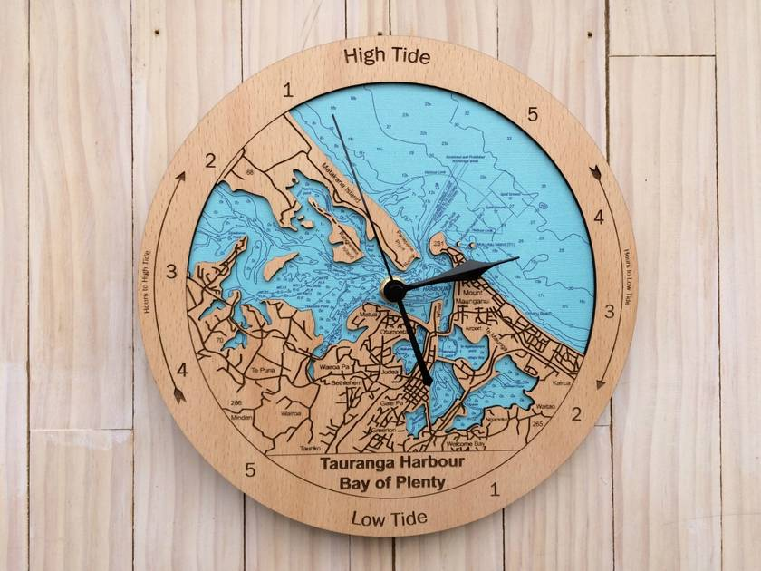 Tauranga Harbour design Tide Clock