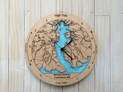 Akaroa Harbour design Tide Clock
