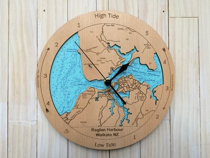 Raglan Harbour design Tide Clock