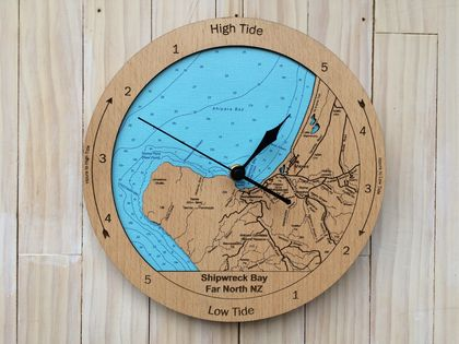 Shipwreck Bay design Tide Clock