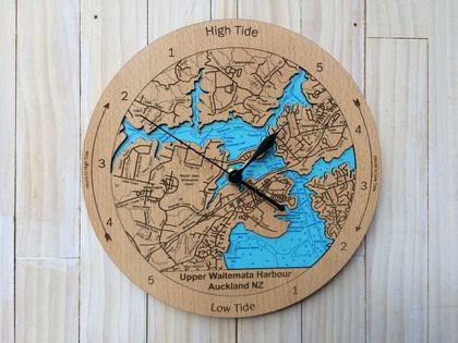 Upper Waitemata Harbour design Tide Clock