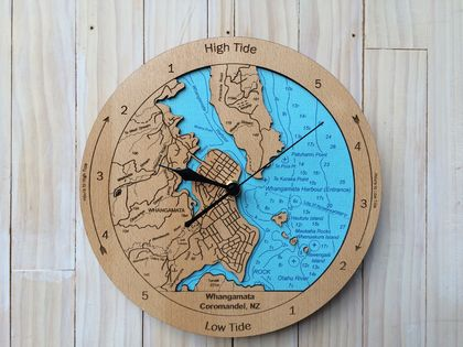 Whangamata Harbour design Tide Clock