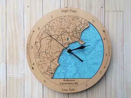 Kaikoura design Tide Clock