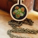 Hand embroidered necklace small