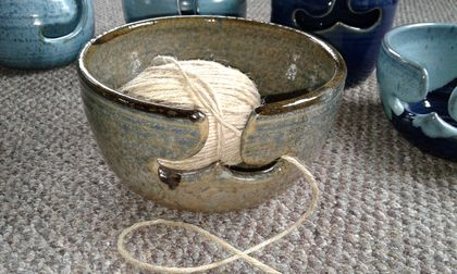 Wool Bowl, for knitting. Yarn Bowl