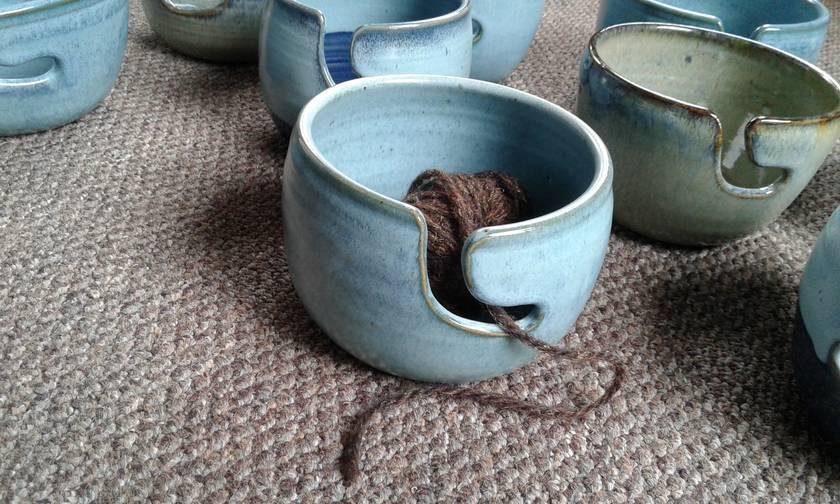 Wool bowl, for knitting