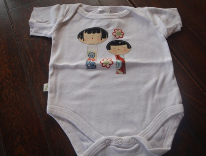 Family & Flowers Onsie size 3-6mths