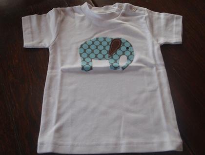 Ezzu the Elephant - short sleeved T shirt size 1