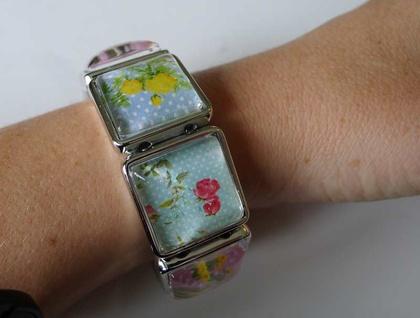 Colourful Vintage look - Floral Bracelet
