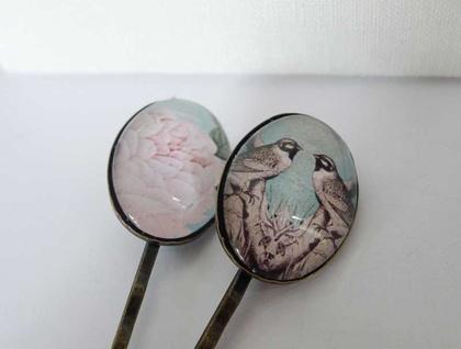 Decorative Oval Hair pin set