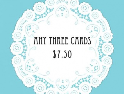 Card Pack - Any three designs $7.50
